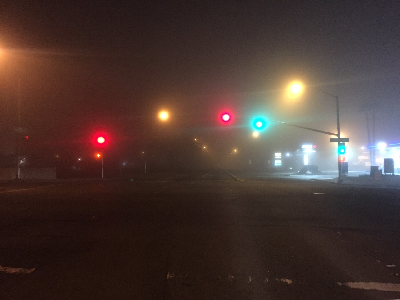 Foggy Wednesday morning in Fresno by Ryan Hudgins 1/25/17