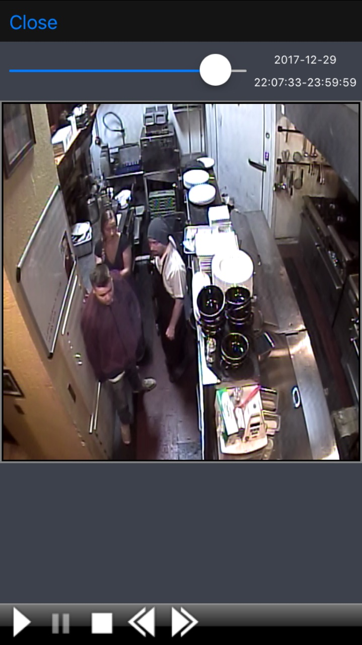 The suspect returned to the kitchen, claiming to be looking for his hat.{&amp;nbsp;}(Loft security footage)<p></p>