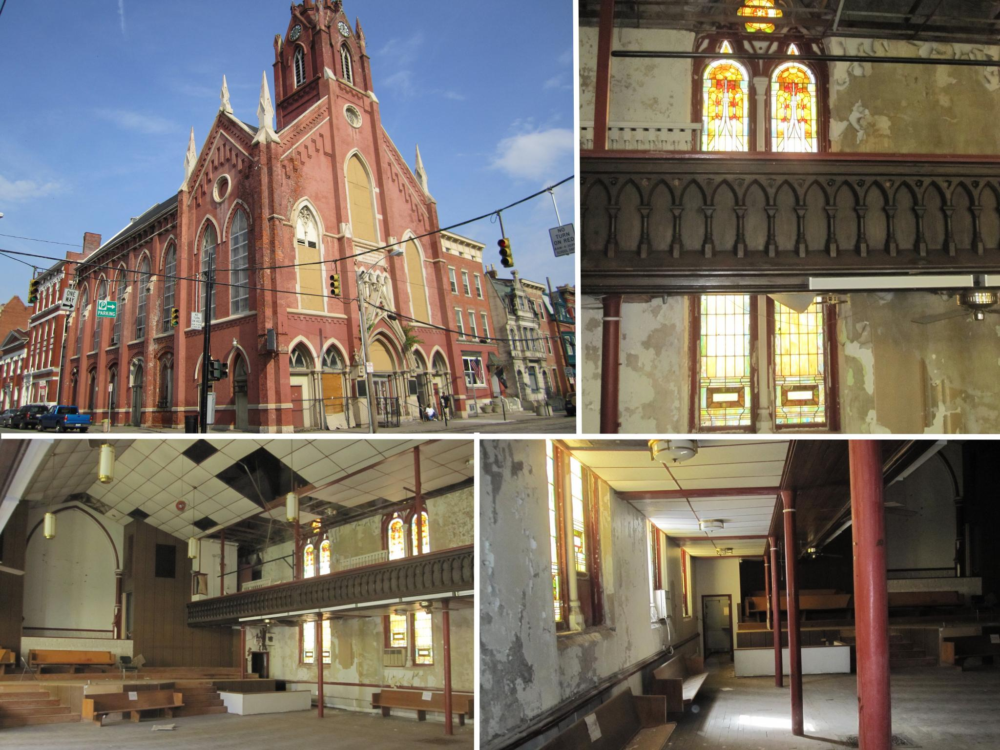 THE TRANSEPT (Before) / ADDRESS: 1205 Elm Street (45202) / CREDIT: $490,000 / PREVIOUSLY: St. John's Church / Images courtesy of the Ohio Department of Taxation, CC by 2.0, with changes