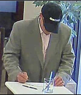 Photo of man wanted for bank robbery at a Wells Fargo on April 18 in Annandale, Va.  (Fairfax County Police)