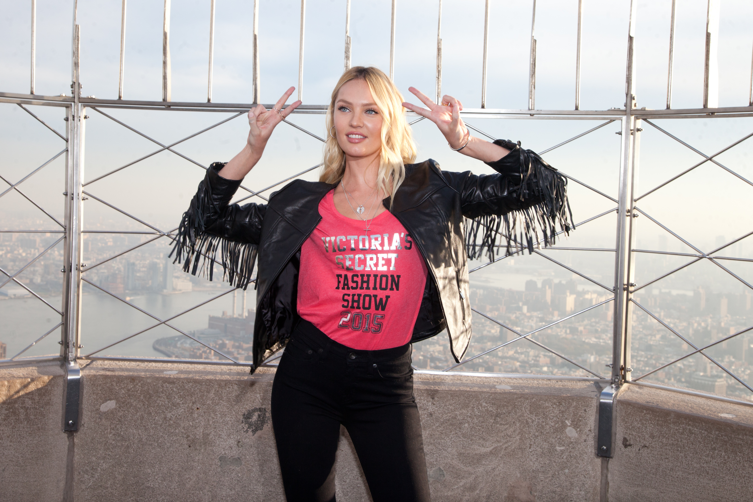 Candice Swanepoel at the Empire State Building to promote the Victorias Secret Fashion Show in NYC  Featuring: Candice Swanepoel Where: New York, New York, United States When: 07 Dec 2015 Credit: Kyle Blair/WENN.com