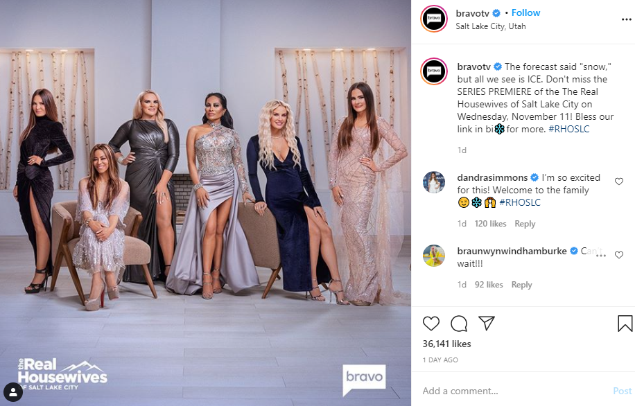 <p>In exactly two months from Friday, Bravo will debut its latest addition to the Housewives franchise. (Photo: Screengrab from Bravo / @bravotv Instagram){&nbsp;}</p>