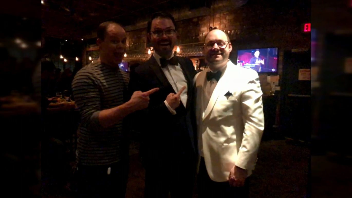 Smokey Cloud (pictured here in a white suit) says that he was apart of a 4 to 5 person team that won the Academy Award for Best Sound Editing for the film 'Ford vs. Ferrari'. (Image courtesy Cloud family)