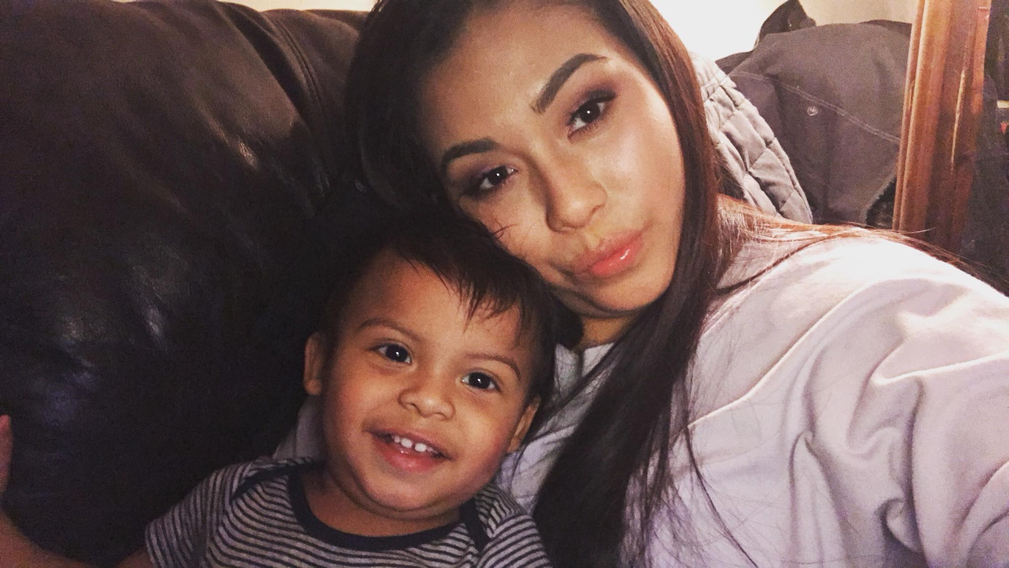 Jackie Lozano, 21, holds her 1-year-old boy, Carter. (Photo Courtesy Jackie Lozano)<p></p>