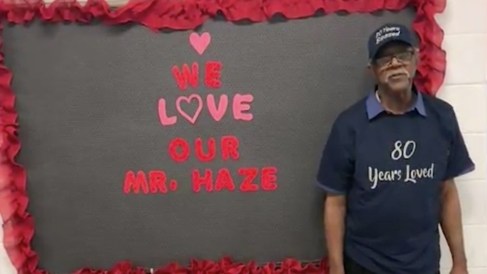 Elementary School Kids Surprised Their Longtime Custodian On His 80th Birthday