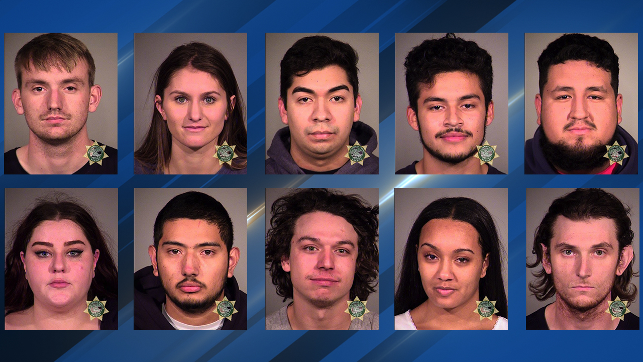 Booking photos for some of those arrested Sunday night during street racing events in Portland - Multnomah County Jail images.jpg
