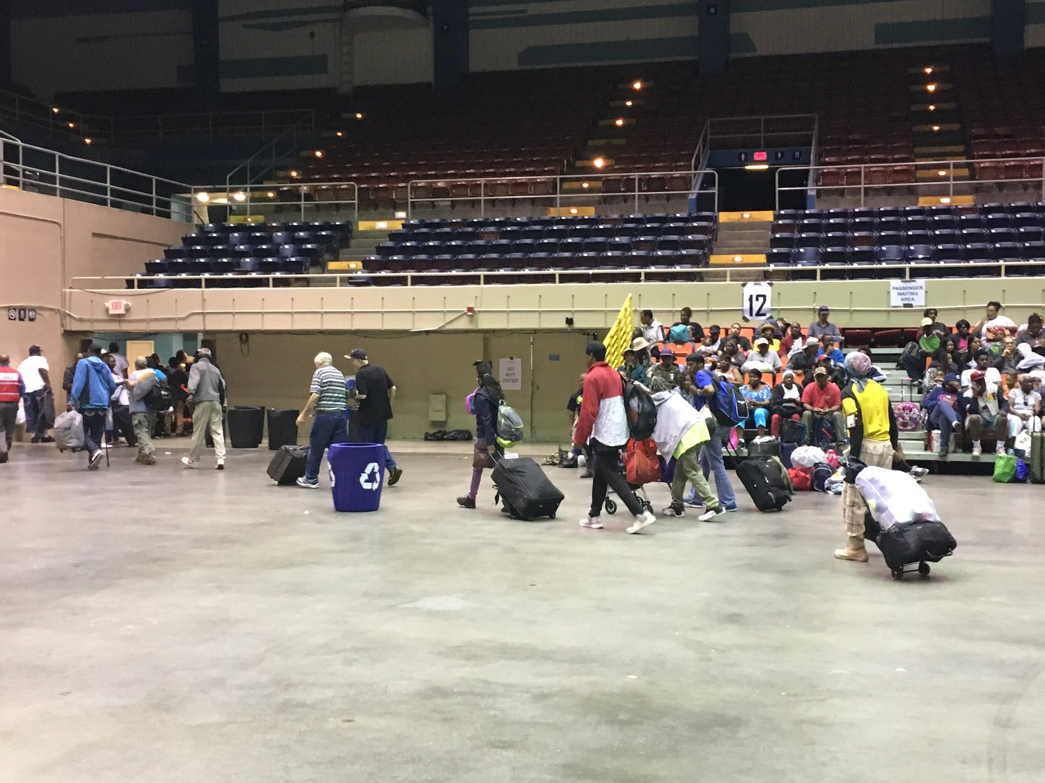 People evacuating ahead of Hurricane Irma at the Savannah Civic Center on Saturday. (WTGS/Robert Catanese)