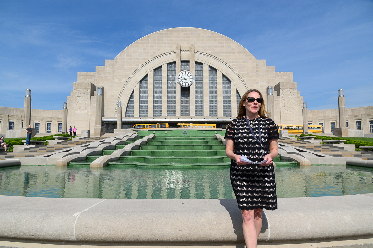 The Museum's CEO, Elizabeth Pierce, makes a short speech before it turned back on. / Image: Phil Armstrong // Published: 5.17.19<p></p>