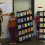 Students showcased their math and art skills with geometric quilts