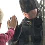 Superhero surprise: Batman helps clean windows at Omaha Children's Hospital