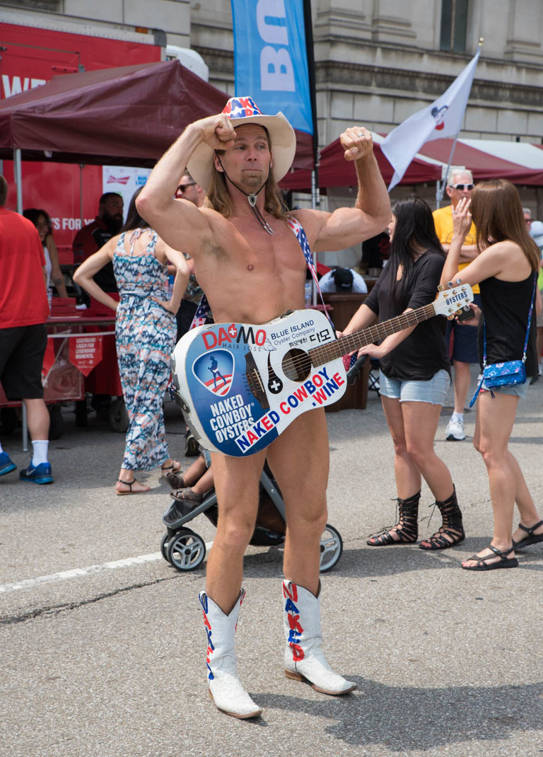 Pictured: Naked Cowboy / Event: Taste of Cincinnati / Image: Sherry Lachelle Photography // Published: 6.6.18