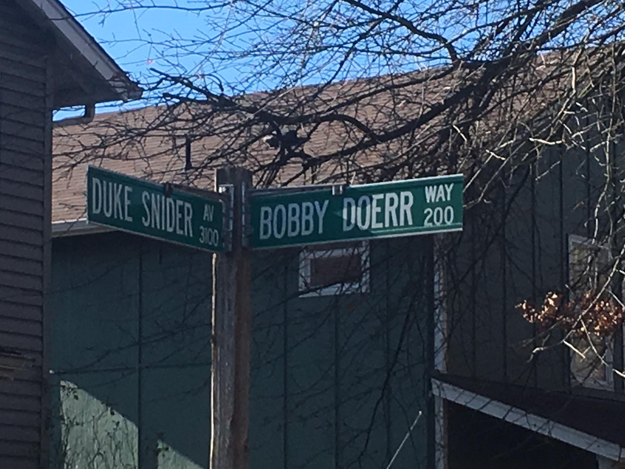 People who live on Bobby Doerr Way in Eugene react to the passing of the Red Sox legend and Junction City resident.