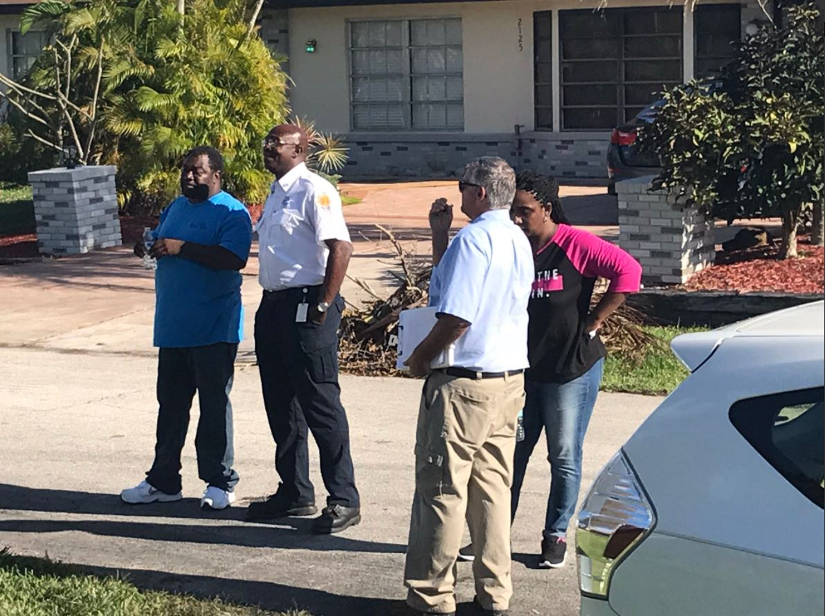 Investigators speak with a Port St. Lucie family who lost everything after a fire destroyed their home. (WPEC)<p></p>