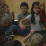 Students practicing mindfulness at Union Gap School