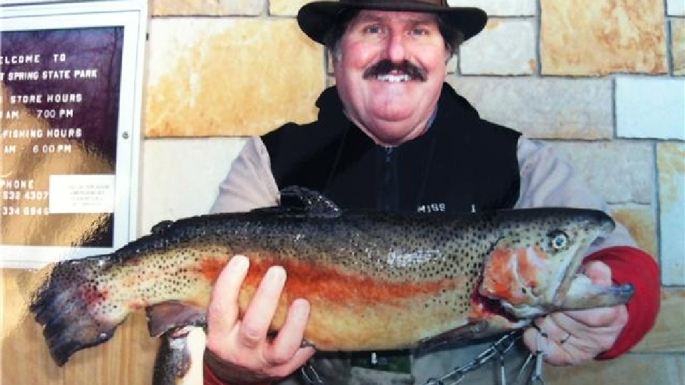Jc man lures in a looker of a lunker krcg for Bennett springs trout fishing