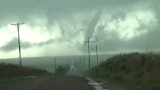 Two tornado-warned storms move into western Oklahoma