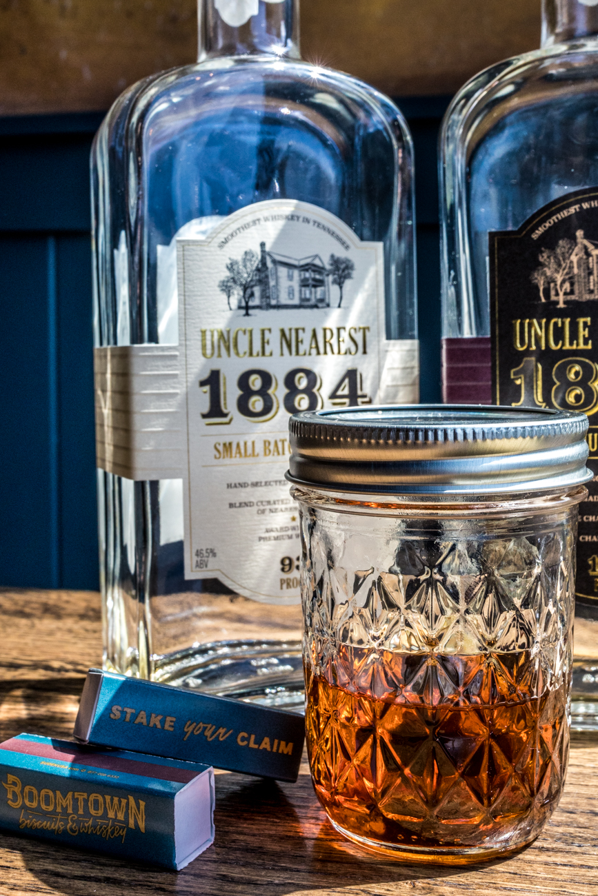PLACE: Boomtown Biscuits and Whiskey / ADDRESS: 1201 Broadway Street (Pendleton) /  Gold Fashioned: Uncle Nearest whiskey, simple syrup, Angostura bitters, orange bitters, and an orange peel / Carryout available through food pop-ups: boomtownbiscuitsandwhiskey.com   / Image: Catherine Viox // Published: 4.28.20