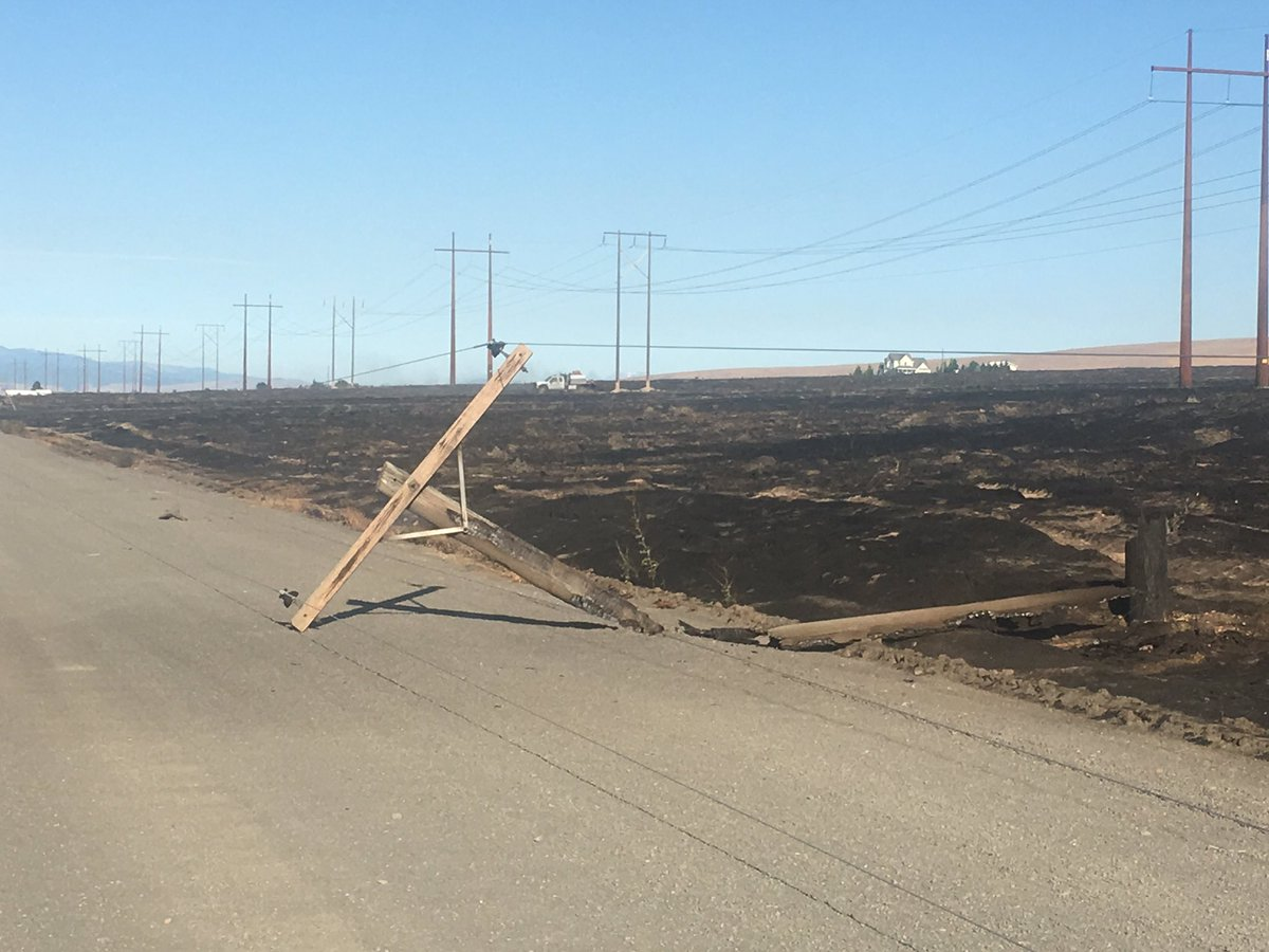 Road 13-NW is closed east of Adams Road as of 9 a.m. while PUD replaces damaged utility poles.