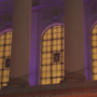 Capitol grounds lit up in purple for Purple Heart Day
