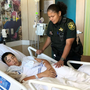 BSO deputy watches over wounded shooting victims in the hospital