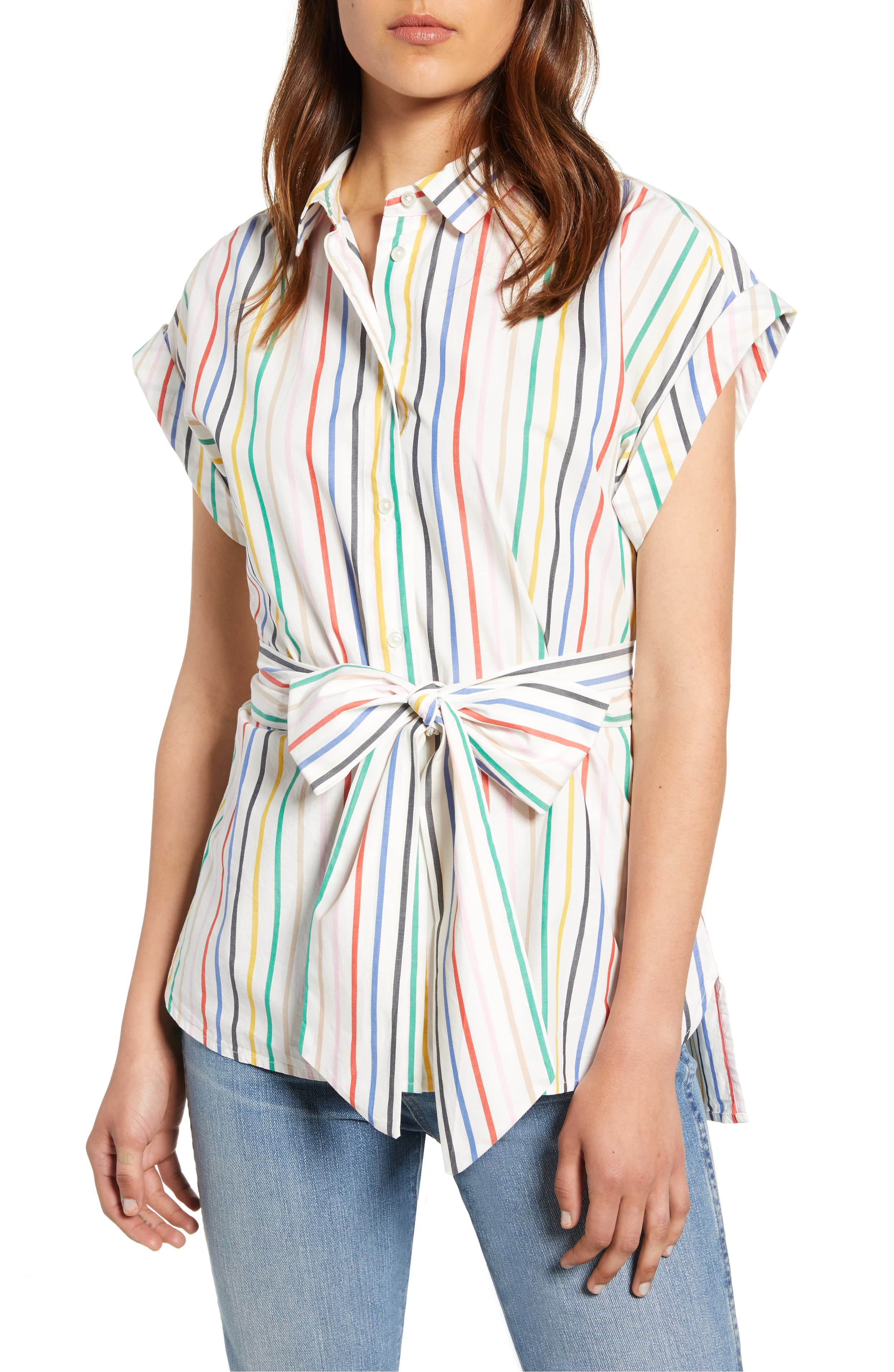 <p>This short-sleeve top (with a flattering tie waist) is an everywhere-and-anything staple. LOVE it. Price $75 (Image: Nordstrom){&nbsp;}</p><p></p>