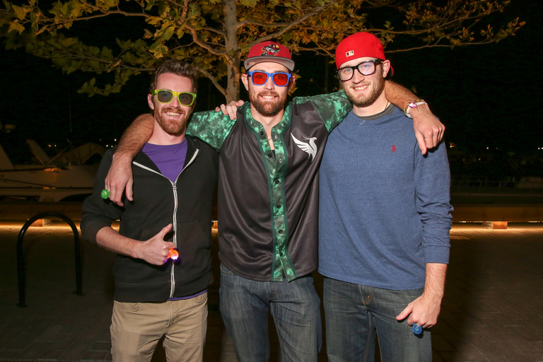 These guys were on their way to see Odesza at The Wharf, but we're into their beards and diffraction glasses.{&amp;nbsp;}(Amanda Andrade-Rhoades/DC Refined)<p></p>