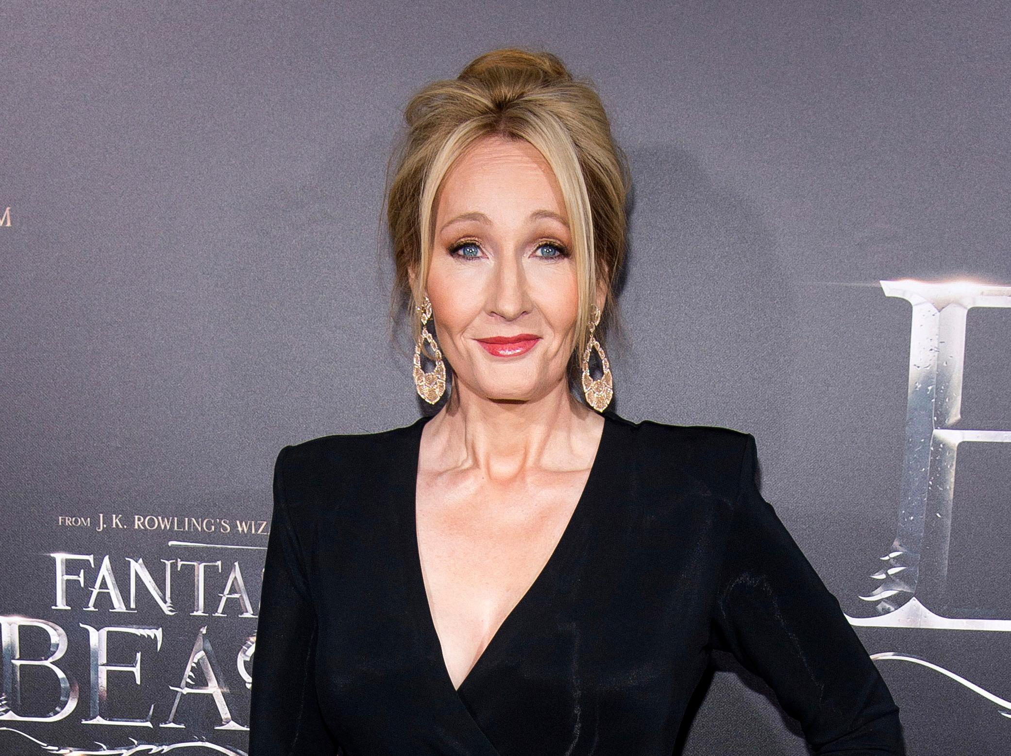 "FILE - In this Nov. 10, 2016 file photo, J. K. Rowling attends the world premiere of ""Fantastic Beasts and Where To Find Them"" in New York. The stage play ""Harry Potter and the Cursed Child"" will come to Broadway's The Lyric Theatre in the spring of 2018, producers said Thursday, May 4, 2017, with an opening set for April. The play recently won nine Olivier Awards in London, including best new play. (Photo by Charles Sykes/Invision/AP, File)"