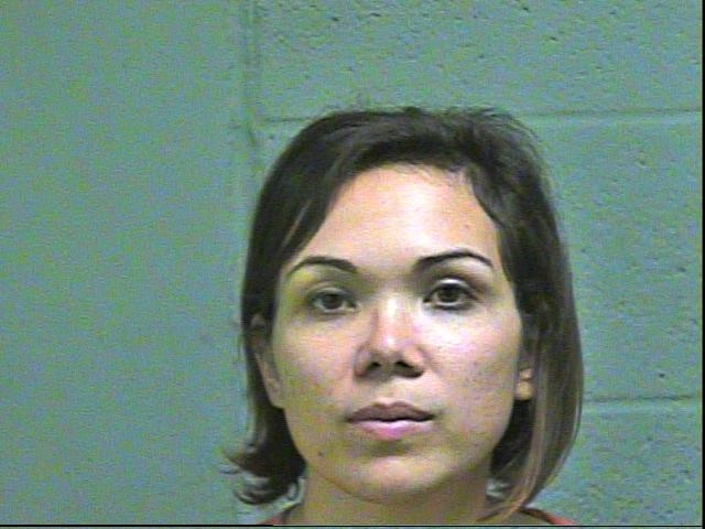 Stephanie Celestial, 29, was arrested in Oklahoma City on complaints of using access to computers and offering to engage in an act of prostitution. (Oklahoma County Jail)