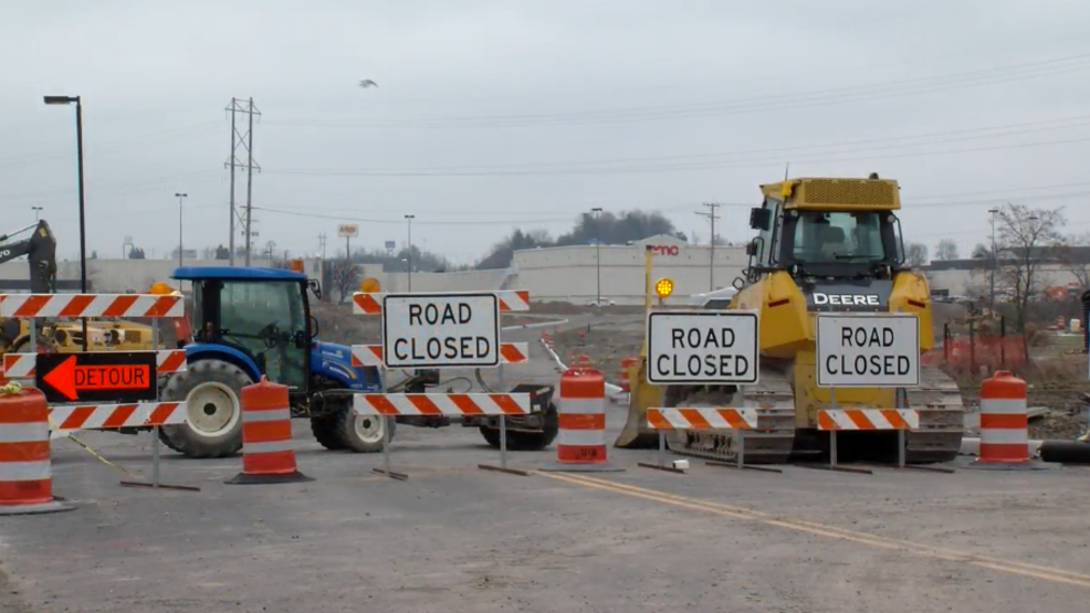 Weather delays progress at Commons Mall Crossing | WTOV