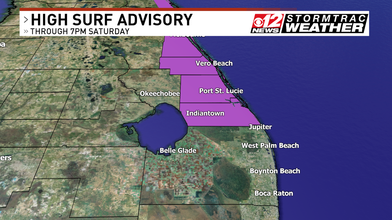 High Surf Advisory. (WPEC)