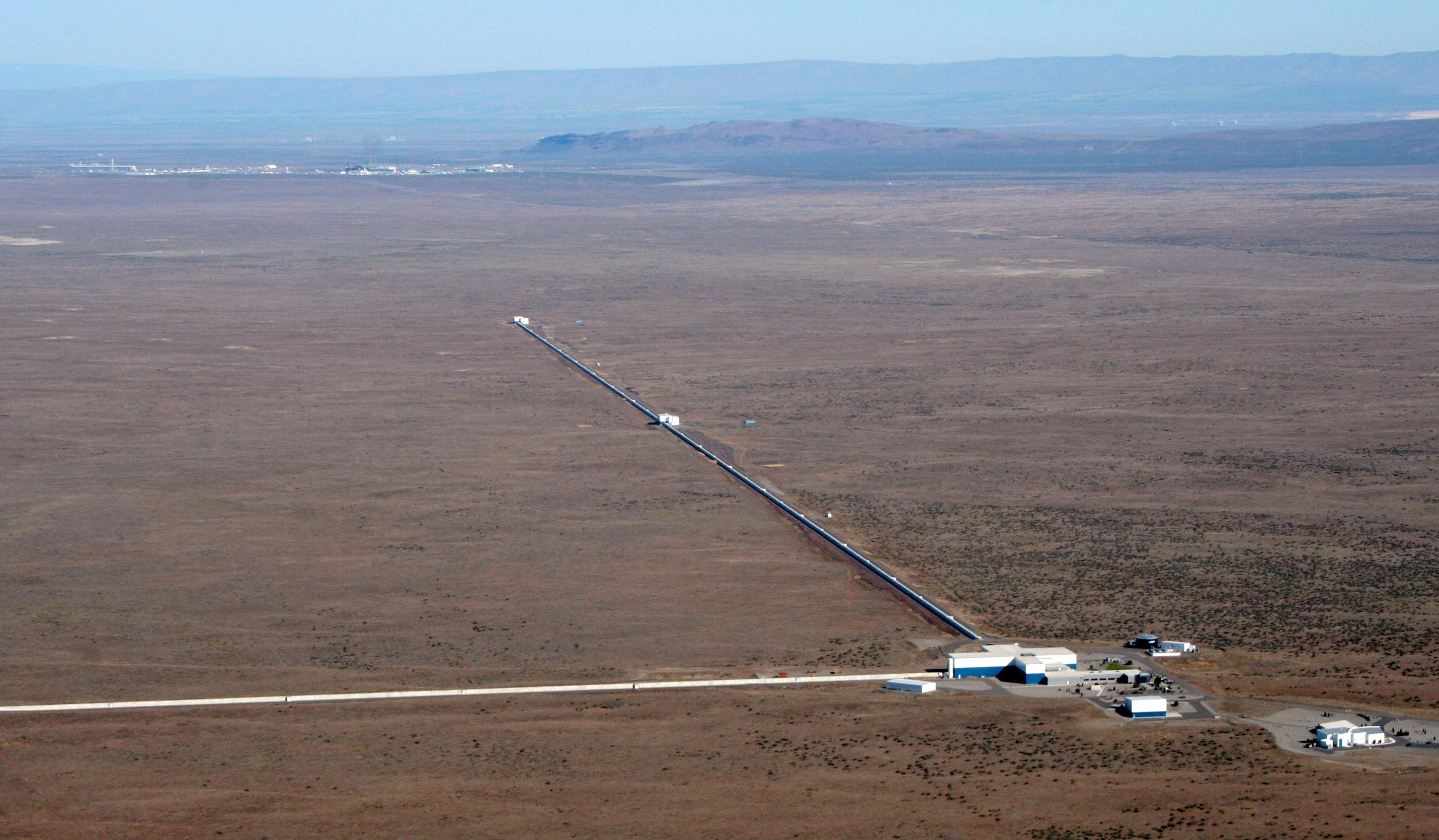 The LIGO site at Hanford, Washington.  (Photo courtesy University of Oregon)