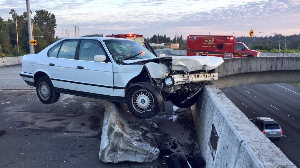 Car Crashes Into Barrier