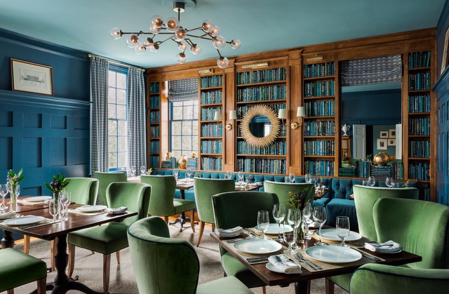 The Library has been transformed into the dining room for 1799, which offers a menu of seasonal, farm-to-table dishes.{ }(Image: Read McKendree / The Clifton)