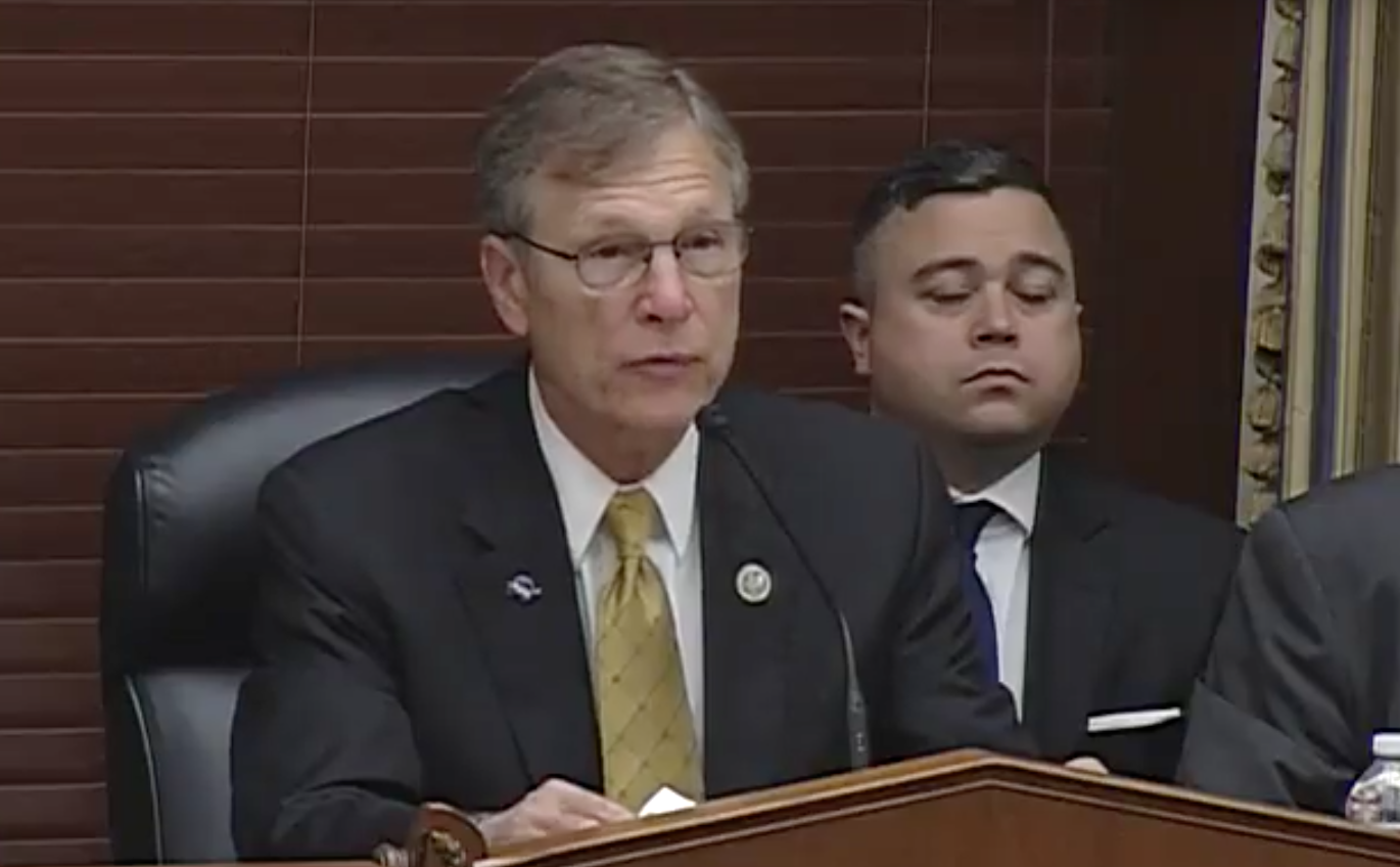 Space subcommittee Chairman Rep. Brian Babin/ Photo: House Science, Space and Technology Committee/YouTube<p></p>