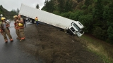 Jack-knifed semi slows I-5 northbound near Wolf Creek