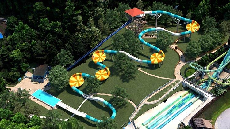 Water Country USA is now home to Virginia's first hybrid water coaster, Cutback Water Coaster. (Image: Courtesy Water Country USA)