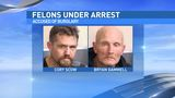 Felons arrested for burglary, $40,000 in items recovered