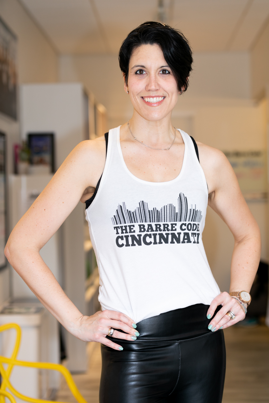 Michelle Ziegler, owner of The Barre Code Cincinnati / Image: Amy Elisabeth Spasoff // Published: 4.15.19