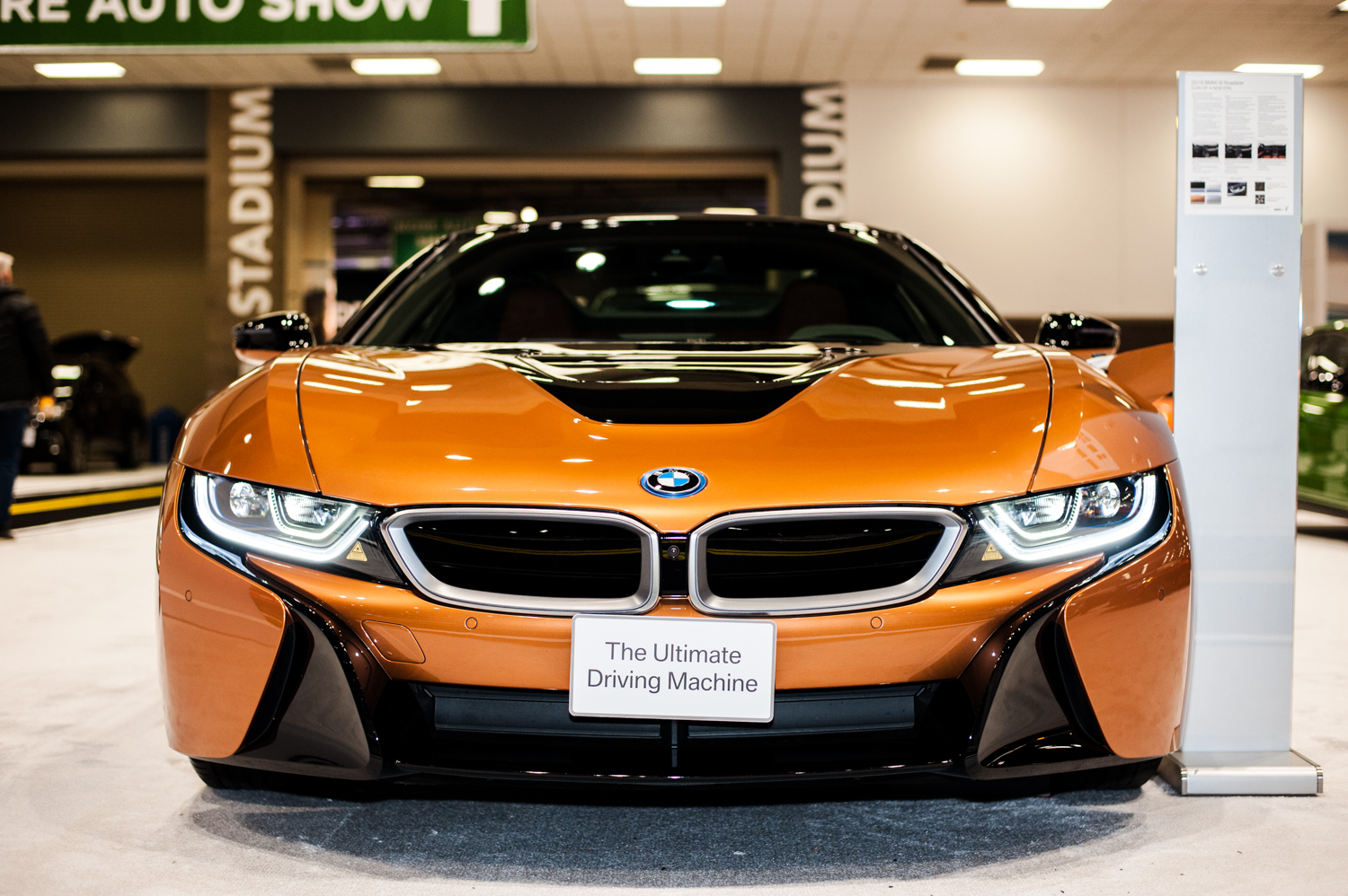 BMW i8 Roadster - $163,300+. The Seattle International Auto Show{ }showcases all that's new in cars, trucks, exotics, super cars, electrics and all the latest models from the world's automobile makers. We scoured the place for the most expensive vehicles we could find - and aye caramba - some of these are literally the cars of our dreams. The Auto Show runs Nov. 9-12, 2018 at CenturyLink Field Event Center. (Image: Elizabeth Crook / Seattle Refined)