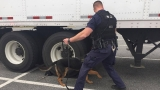 LPD holding routine tractor-trailer inspection in Wards Road shopping center