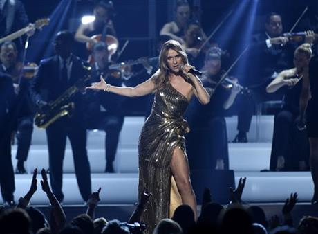 "Celine Dion performs ""The Show Must Go On"" at the Billboard Music Awards at the T-Mobile Arena on Sunday, May 22, 2016, in Las Vegas2.jpg"