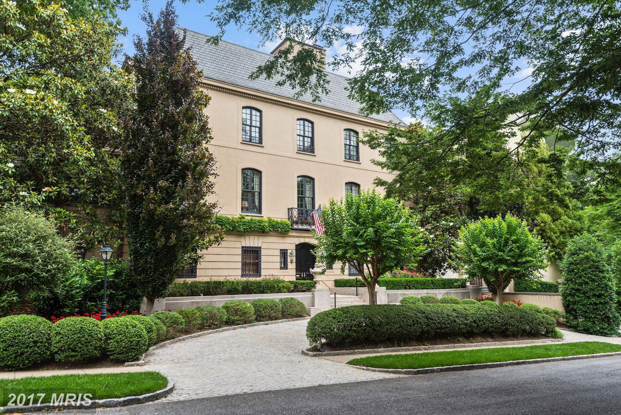 List price: $14,000,000 // Closing price: $14,000,000 // 7 bedrooms, 10 bathrooms // Built in 1962// Federal style // Neighborhood: Cleveland Park // Listing agent: Robert Hryniewicki of Washington Fine Properties // Selling agent: Cynthia Howar of Washington Fine Properties (Image: Courtesy Bright MLS)<br><p></p>