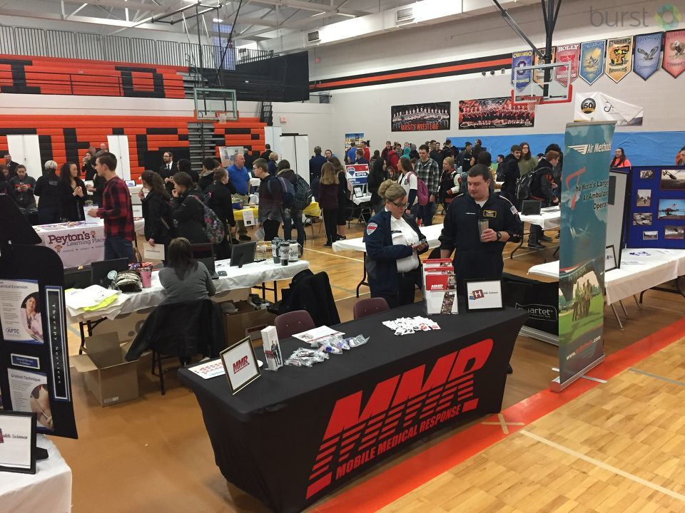 Our own morning anchor Rachelle Spence, morning reporter Veronica Meadows, and chief photographer Mike Horne, were at the Clio High School career fair to talk to students who are interested in careers in broadcasting. (Photo: WEYI/WSMH)