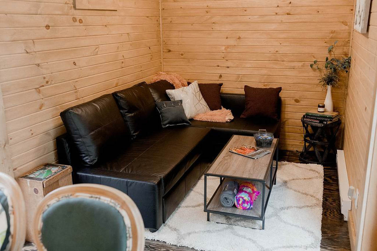The Riverside Hideout in Dover is made out of a shipping container that was transformed by hand into a cozy retreat outside of Canton. Book a stay to simply relax in this secluded space, unwind in the hot tub, and enjoy the thoughtful, colorful touches that make it feel like home. The 1 bedroom abode sleeps four and has 1 bath. It's three and a half hours from Cincinnati. / Image courtesy of Riverside Hideout // Published: 5.21.19