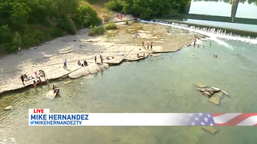 Guadalupe River level fairly low   KMYS