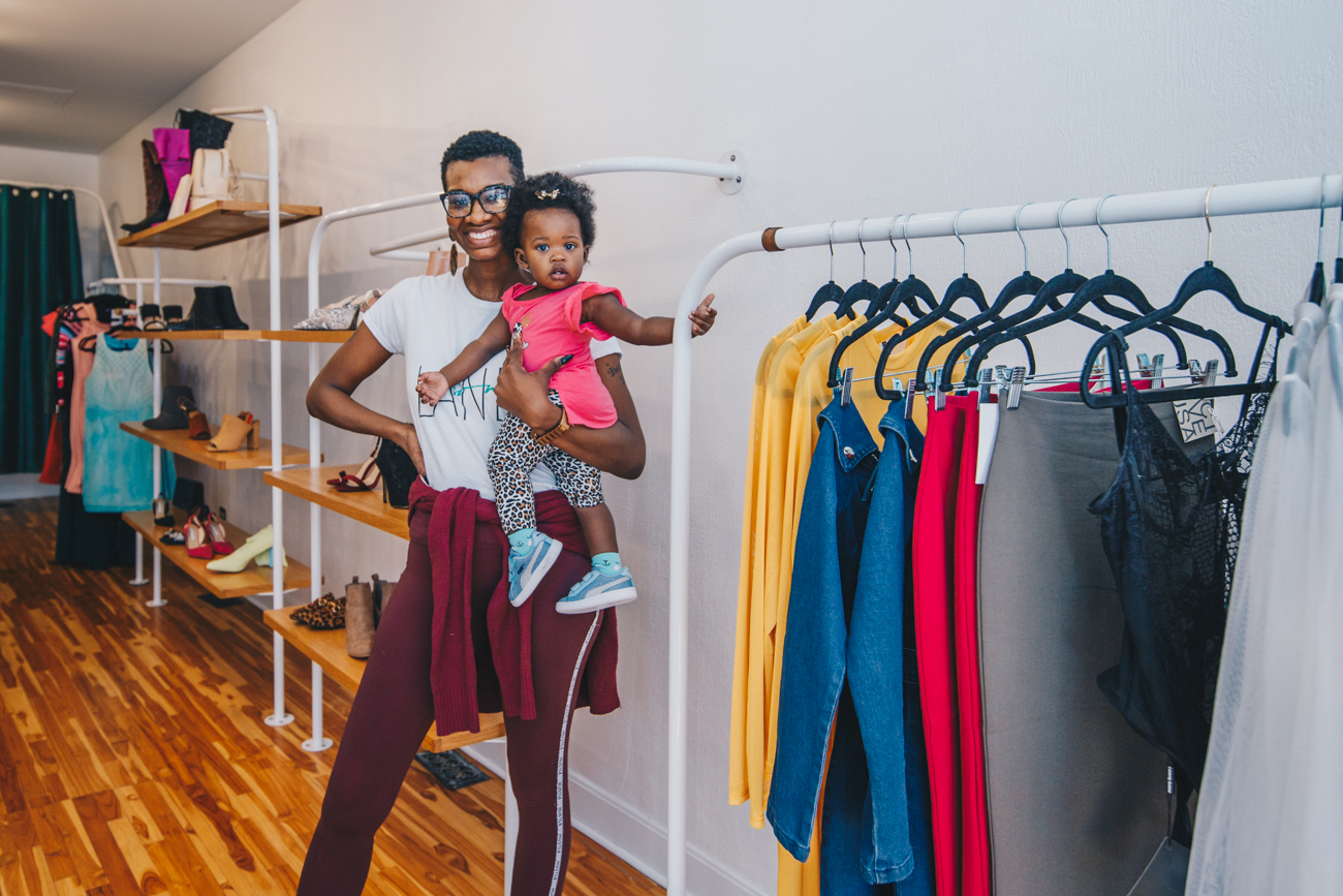 Chanel Scales, owner, with daughter, Harlem / Image: Catherine Viox // Published: 4.1.19