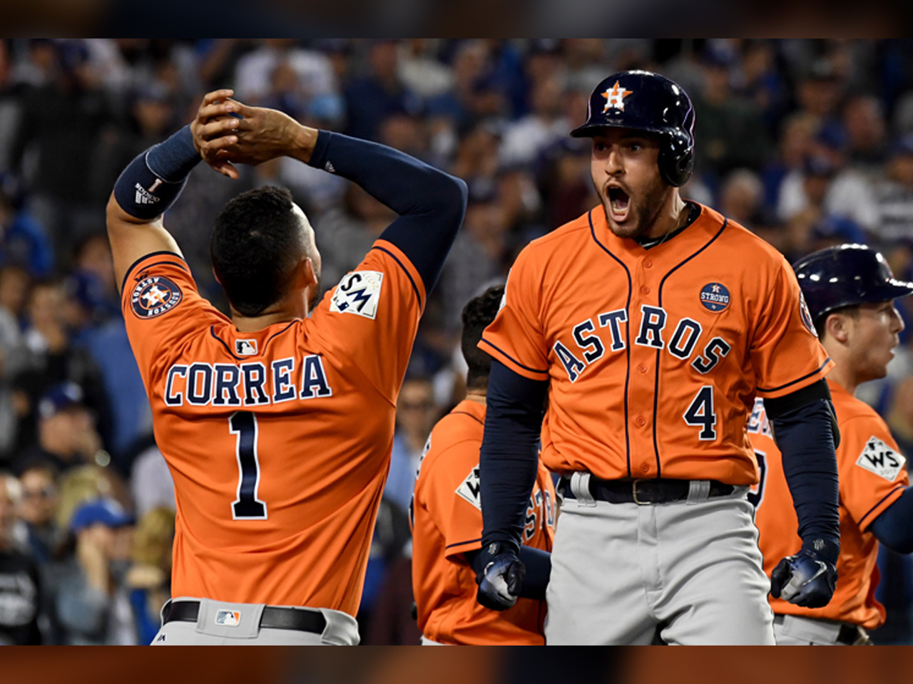 PHOTO: George Springer #4 of the Houston Astros won the 2017 Willie Mays World Series Most Valuable Player Award, Photo Date: 11/2/17. (Photo: ZUMA Press / MGN Online)