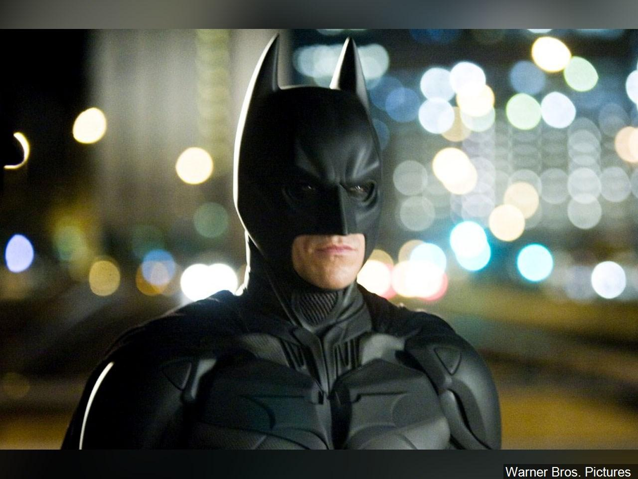 Christian Bale as Batman in 'The Dark Knight', 2008. (Photo:{ }Warner Bros. Pictures via MGN Online)