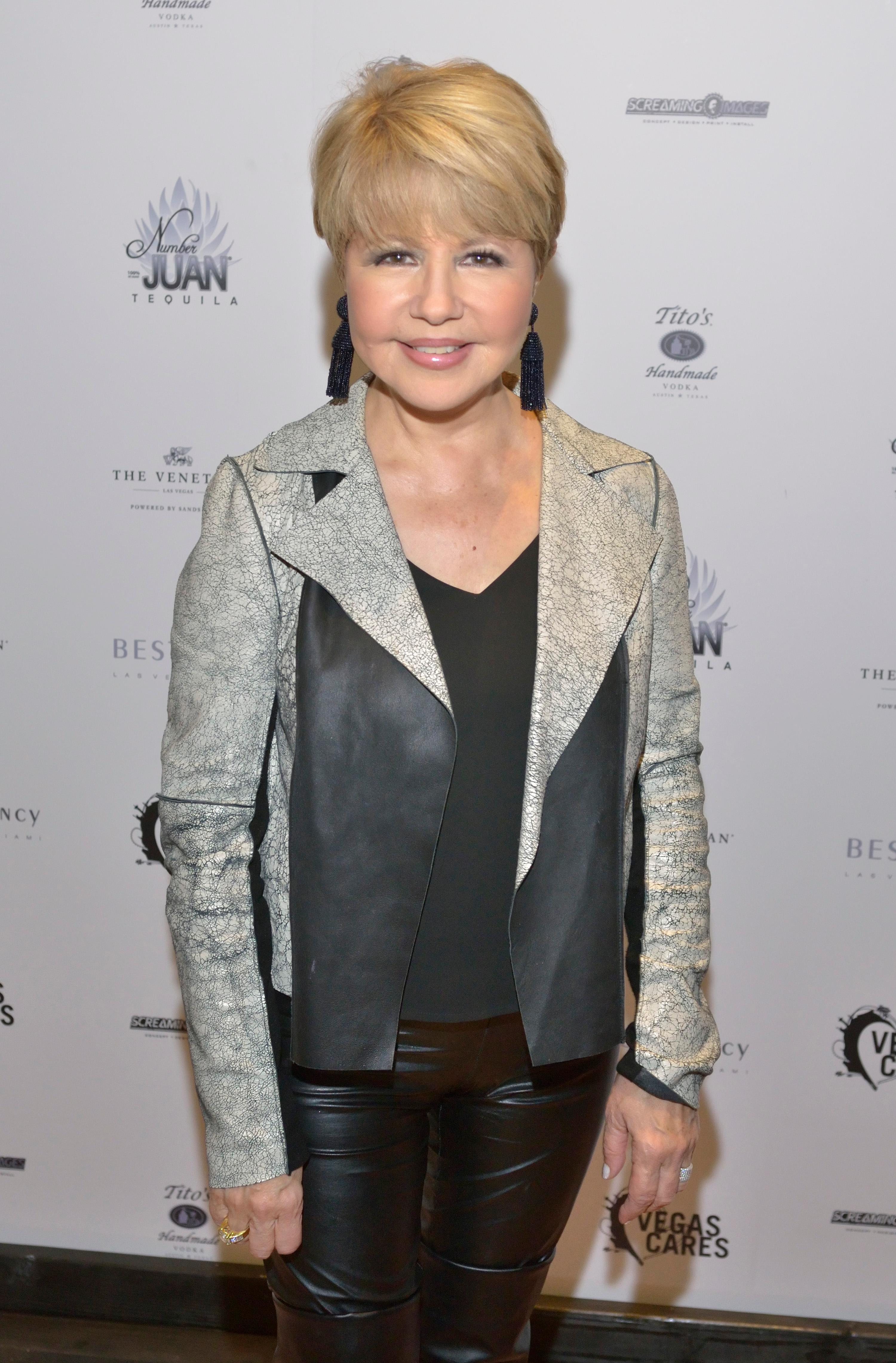 "Pia Zadora is shown at the ""Vegas Cares"" benefit concert at the Venetian Theatre in the Venetian hotel-casino at 3355 S. Las Vegas Blvd in Las Vegas on Sunday, Nov 5, 2017. The concert was sponsored by a group of Las Vegas entertainers, producers and business professionals to honor the victims and first responders from shooting at the Route 91 Harvest festival. (Photo/Las Vegas News Bureau/Bill Hughes)"