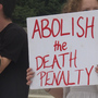 People against the death penalty protest at the state capitol